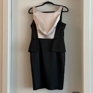 2 for $50 Maggy London black and taupe dress